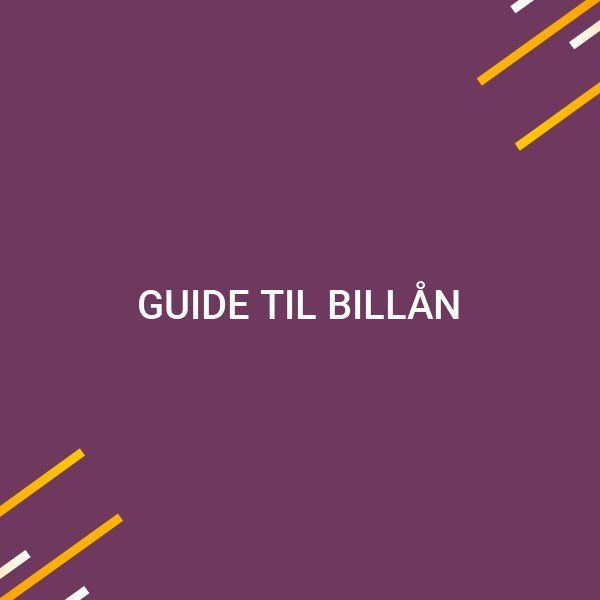 Guide til billån